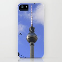 """TV Tower with detail of """"World time Clock"""", BERLIN iPhone Case"""