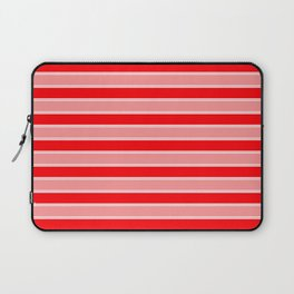 Large Horizontal Christmas Holiday Red Velvet and White Bed Stripe Laptop Sleeve