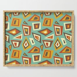 African Abstract Geometric Retro Serving Tray