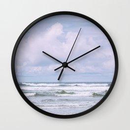 Lilac Sea - Ocean Landscape, Nature Photography Wall Clock