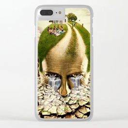 Inhabited Head Clear iPhone Case