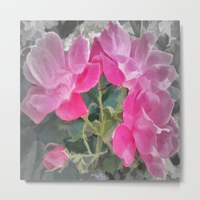 Iced Blossoms Metal Print