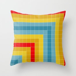 Grid in Roller Rink Throw Pillow