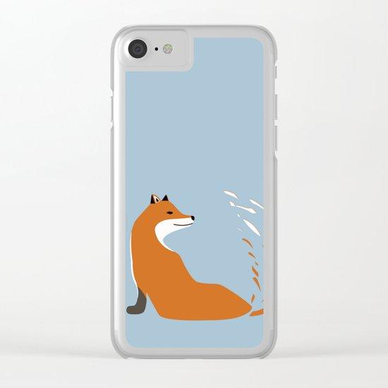 Fox Graphic Design Clear iPhone Case
