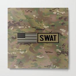 SWAT: Woodland Camouflage Metal Print