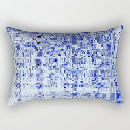 Abstract Architecture Blue Rectangular Pillow