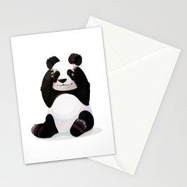 Cute big panda bear Stationery Cards