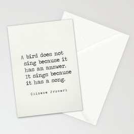 Chinese proverb 3 Stationery Cards