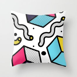 Memphis Pop-art Pattern II Throw Pillow