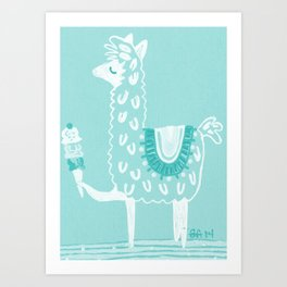 Alpaca Loves... Art Print