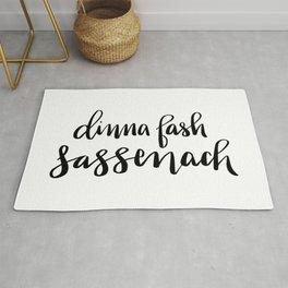Dinna Fash Sassenach - Outlander Inspired Hand Lettering Rug