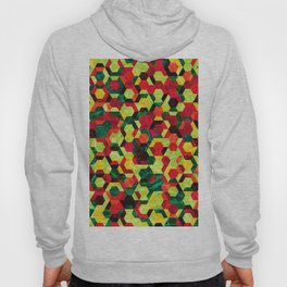 Colorful Half Hexagons Pattern #05 Hoody