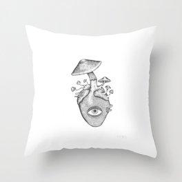 Eye Heart Shrooms Throw Pillow