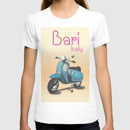 Bari Italy Scooter travel poster T-shirt