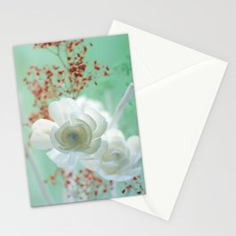 Pastell Flowers Rose Stationery Cards
