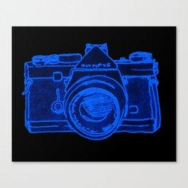 Yellow Camera Canvas Print