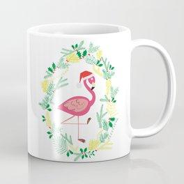 FLAMINGO CHRISTMAS WREATH Coffee Mug