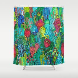 Kingdom of Plants Shower Curtain