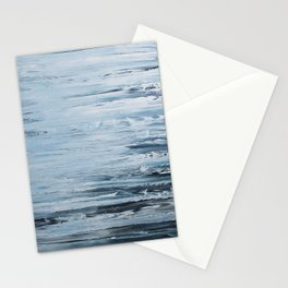 Black Beach with Waves Stationery Cards