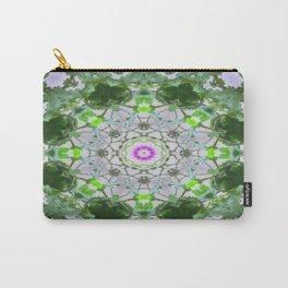 Purple Wildflower Kaleidoscope Art 8 Carry-All Pouch