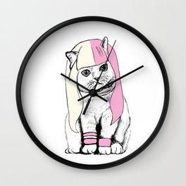 Cat wig Wall Clock