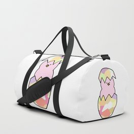 Cute Pink Baby Chick - a hatching chicken for spring and Easter Duffle Bag