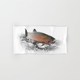 Migrating Steelhead Trout Hand & Bath Towel
