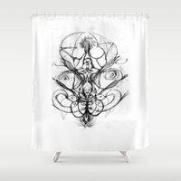bee Shower Curtains featuring Bee. by sonigque