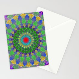Life cycle mandala Stationery Cards