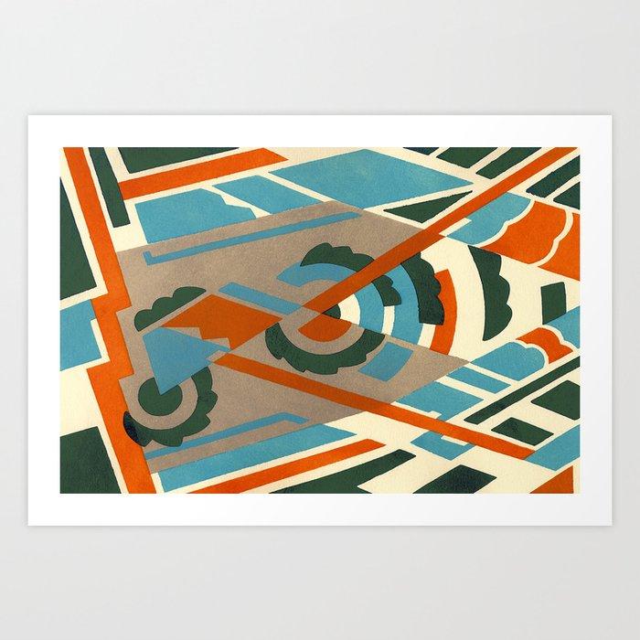 Art Deco 2 Pattern Art Print