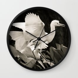 White bird dance 3 Wall Clock