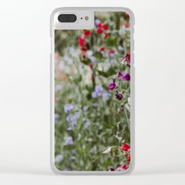 Sweet Pea Garden Clear iPhone Case