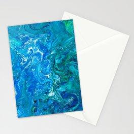 Elegant Crazy Lace Agate 2 - Blue Aqua Stationery Cards