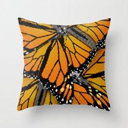 MONARCH BUTTERFLIES MONTAGE NATURE DESIGN Throw Pillow