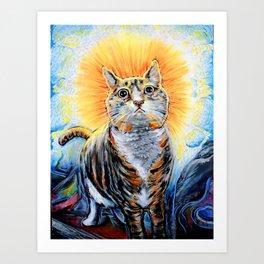 Enlightened Cat Art Print