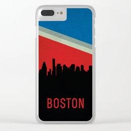 Boston Skyline Clear iPhone Case