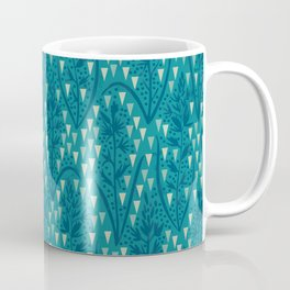 Botanical pattern with triangles and dots Coffee Mug