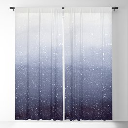 Falling Snow Blackout Curtain