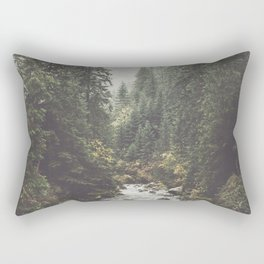 Mountain creek - Landscape and Nature Photography Rectangular Pillow