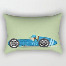 Blue Retro Racing Car Rectangular Pillow