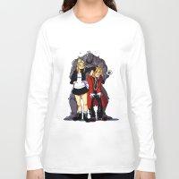 fullmetal Long Sleeve T-shirts featuring Fullmetal Alchemist by Mika