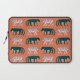 Orange, Blush & Green Tigers Laptop Sleeve