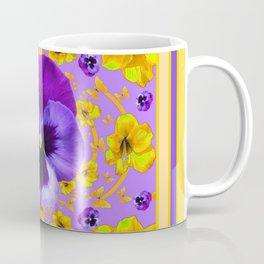 PANSIES YELLOW BUTTERFLIES & FLOWERS GARDEN Coffee Mug
