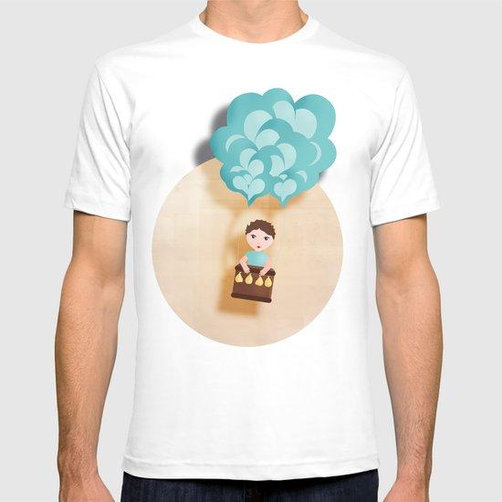 Flotando con mi imaginación T-shirt