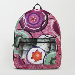 Hope pink Flowers Backpack