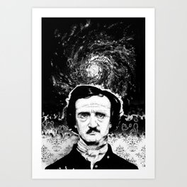 A Portrait of Poe—Into the Maelstrom Art Print