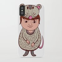 mouse iPhone & iPod Cases featuring Mouse by Carmen Sarrion