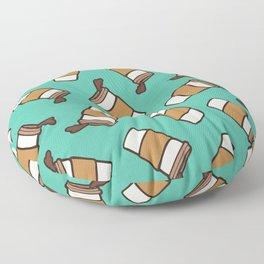 Take it Away Coffee Pattern Floor Pillow