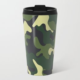 Army Green Camouflage Camo Pattern Travel Mug
