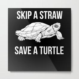 Turtle Animal Welfare Metal Print